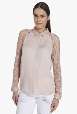 Vero Moda Peach Lace Shirt