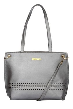 Caprese Donna Grey Cut Work Shoulder Bag