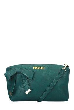 Caprese Alexandria Emerald Green Solid Sling Bag