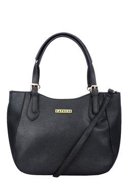 Caprese Vincita Black Solid Shoulder Bag
