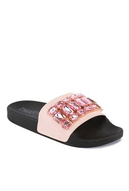 Truffle Collection Pink & Black Casual Sandals