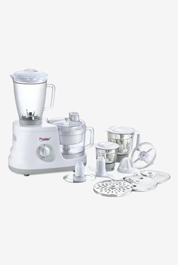 Prestige All Rounder 600 Watts 3 Jar Food Processor (White)