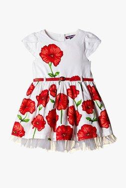 56bcb224a2e Nauti Nati Kids Red Printed Midi Dress