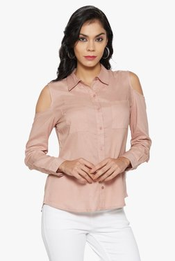 Globus Pink Cold Shoulder Shirt