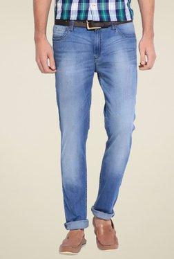 Lee Blue Lightly Washed Mid Rise Slim Fit Jeans