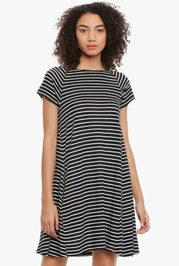 Femella Black Striped Dress