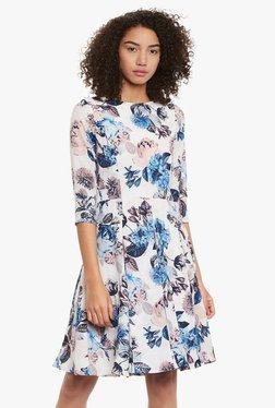 Femella White Floral Print Dress