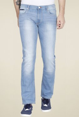 Lee Light Blue Slim Fit Mid Rise Solid Jeans
