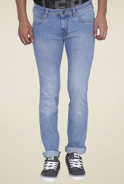 Wrangler Blue Lightly Washed Slim Fit Low Rise Jeans
