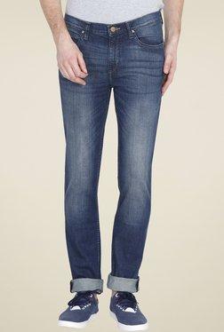 Lee Dark Blue Skinny Fit Mid Rise Jeans