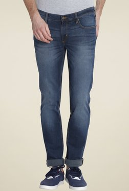 Lee Indigo Lightly Washed Skinny Fit Jeans
