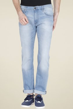 Lee Light Blue Slim Fit Mid Rise Jeans