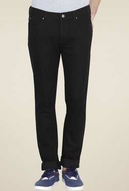 Lee Black Skinny Fit Solid Mid Rise Jeans