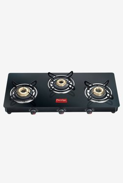 Prestige Marvel GTM 03 3 Burners Gas Stove (Black)