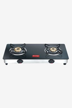 Prestige Marvel GTM 02 2 Burners Gas Stove (Black)