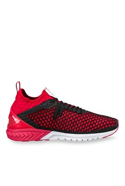 Puma Ignite Dual Netfit Black Running Shoes for Men online in India ... 5f0f9fafd