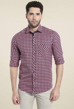 Killer Pink & Black Slim Fit Checks Shirt