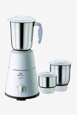 Bajaj GX1 500W 3 Jars Mixer Grinder (White)
