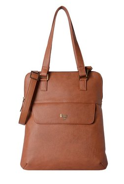 Baggit L Naomi Y G Silicon Tan Solid Shoulder Bag