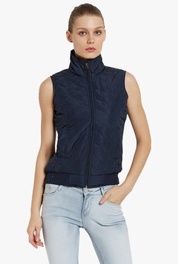 Globus Navy Quilted Bomber Jacket