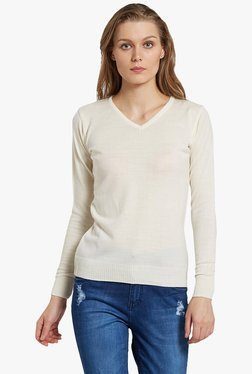Globus Off White V Neck Pullover