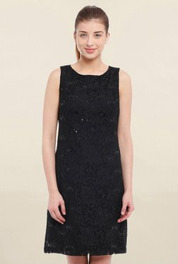 Avirate Black Lace Dress