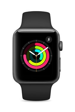 Apple MQL12 Series 3 GPS 42mm Space Grey Aluminium Watch TATA CLiQ deals