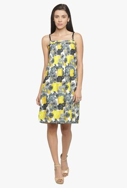 Mineral Yellow Floral Print Dress