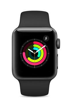 Apple MQKV2 Series 3 GPS 38mm Space Grey Aluminium Watch TATA CLiQ Rs. 29490.00