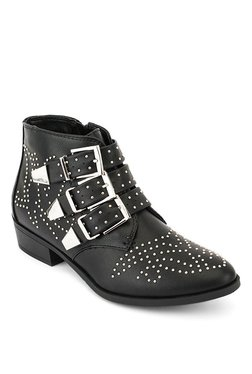 Truffle Collection Bold Black Casual Boots