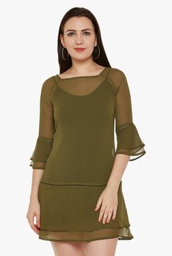 Oxolloxo Olive Mini Dress With Cami