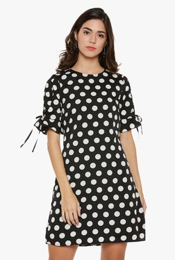 Oxolloxo Black Polka Dot Dress
