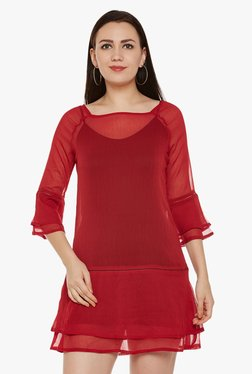 Oxolloxo Red Mini Dress With Cami