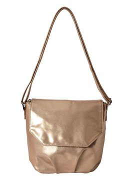 Baggit LX4 Tug Deep Rose Gold Solid Flap Sling Bag
