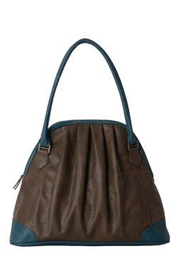 Baggit L Halftone Wanhua Dark Brown Pleated Shoulder Bag