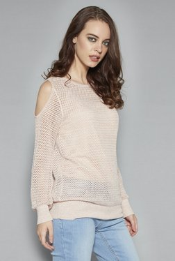 Nuon By Westside Peach Knit Top