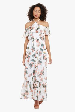 Femella Off White Floral Print Maxi Dress