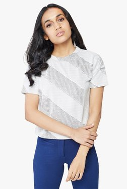 AND White Striped Top