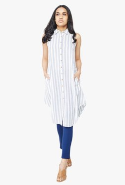 AND White Striped Tunic