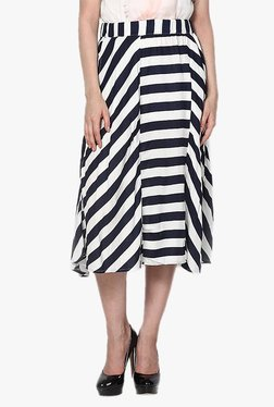 Vero Moda Black & White Striped Midi Skirt