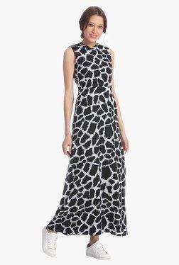 Vero Moda Black & White Printed Maxi Dress