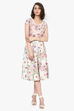 Vero Moda Multicolor Floral Print Midi Dress