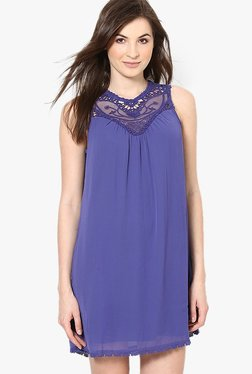 Vero Moda Purple Lace Above Knee Dress