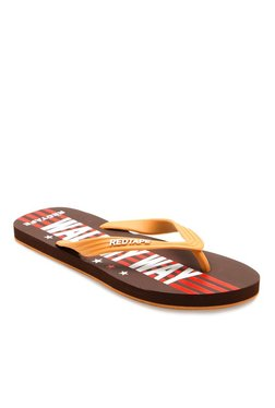 Red Tape Sand & Dark Brown Flip Flops