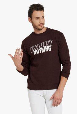 Globus Wine Printed Full Sleeves Sweatshirt