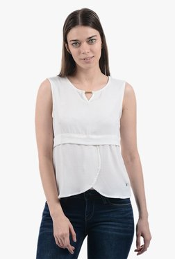Pepe Jeans White Round Neck Top - Mp000000001863307