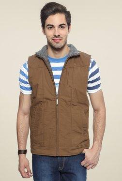 Allen Solly Brown Sleeveless Reversible Jacket