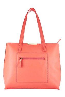 Caprese Marie Coral Pink Solid Shoulder Bag