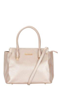 Caprese Christine Metallic Pink Solid Shoulder Bag