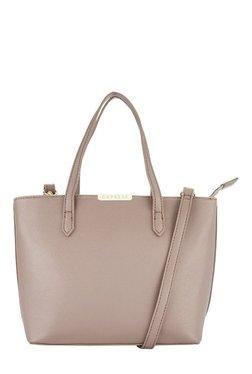 Caprese Marie Dark Beige Solid Shoulder Bag